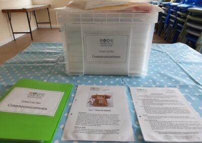 Communications: Each box includes a full contents list, object notes, handling guidance and classroom activity prompts.