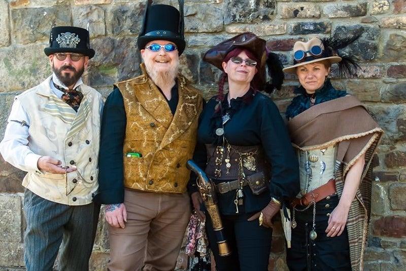 Steampunk Fancy Dress people