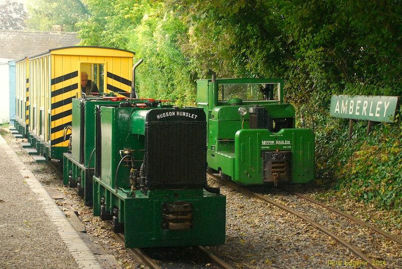 Hudson Hunslet and Motor Rail at Amberley Station
