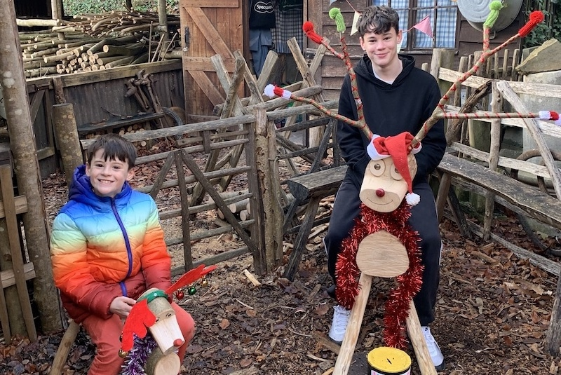 Children on Reindeer Greenwood Village