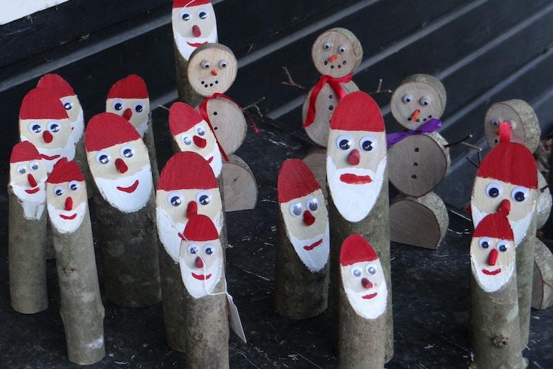 Wooden Santas
